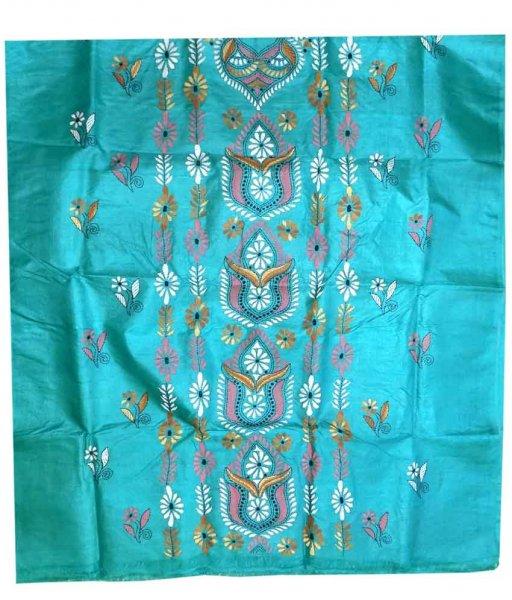 Sky Tussar Silk Suit Piece