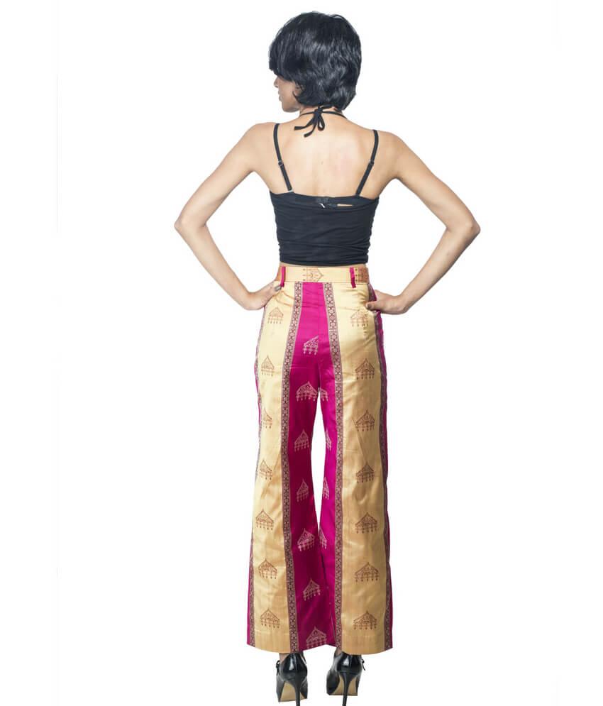 Ikat Straight Silk Palazzo