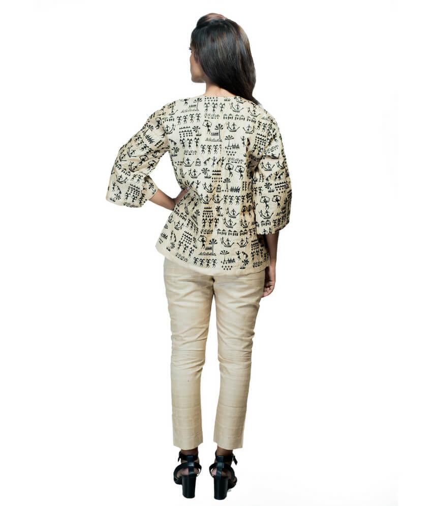Tribal Design Oversized Ikat Jacket