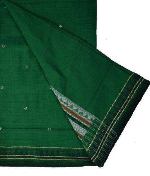 Green Dongria Cotton Saree