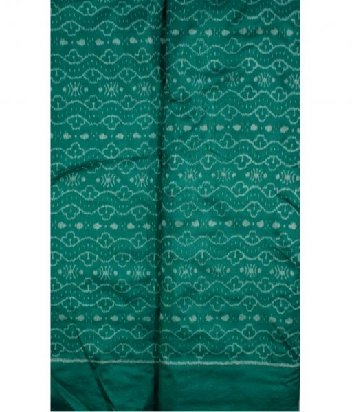 Green Ikat Silk Fabric