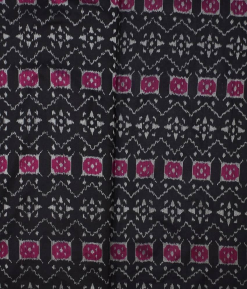 Black Sambalpuri Silk Fabric