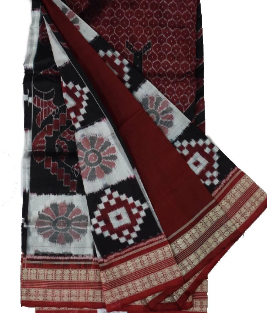 Big Fish Pattern Sambalpuri Silk Saree
