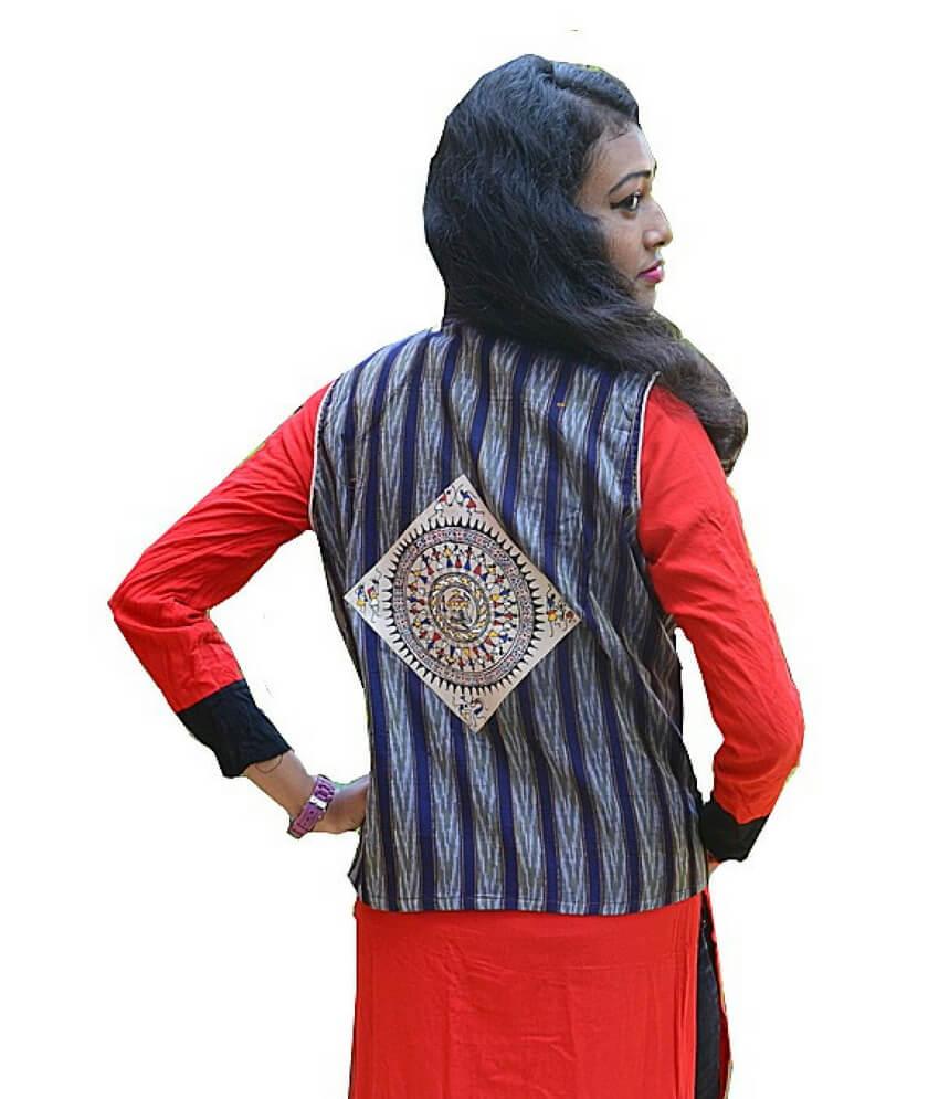 Pattachitra Hand Painted Waistcoat