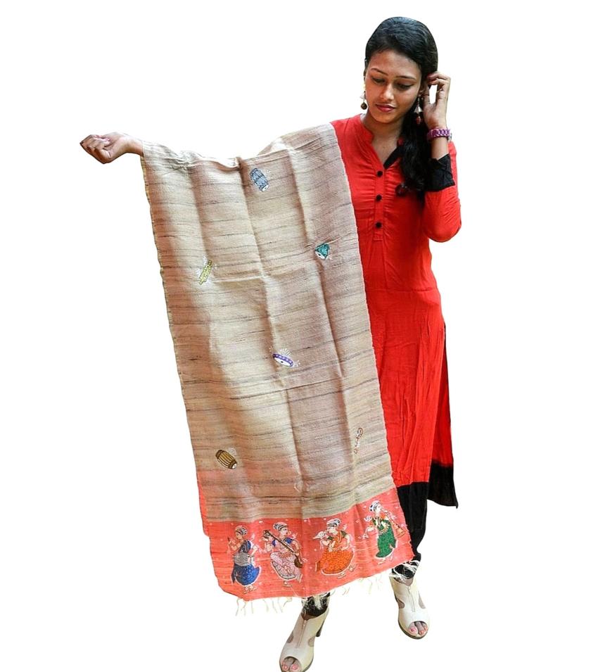 Pattachitra Hand Painted Dupatta