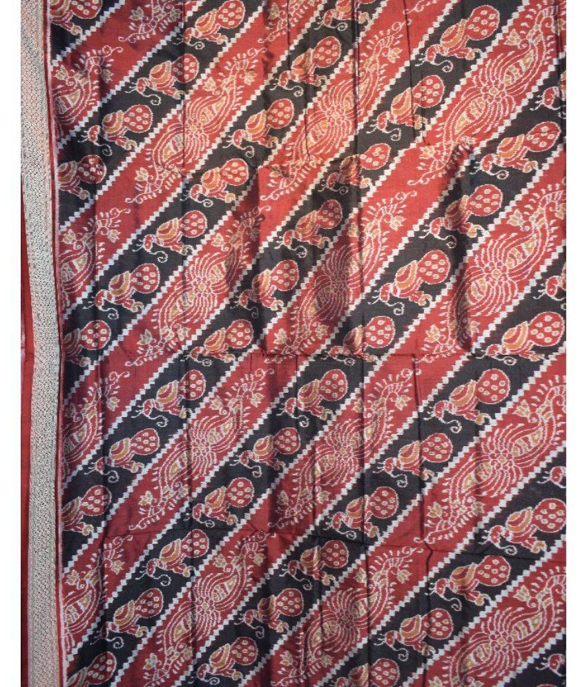 Peacock Pattern Sambalpuri Silk Saree