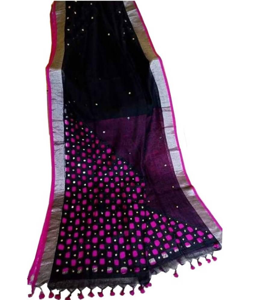 Pure Cotton Silk Cut Work Saree
