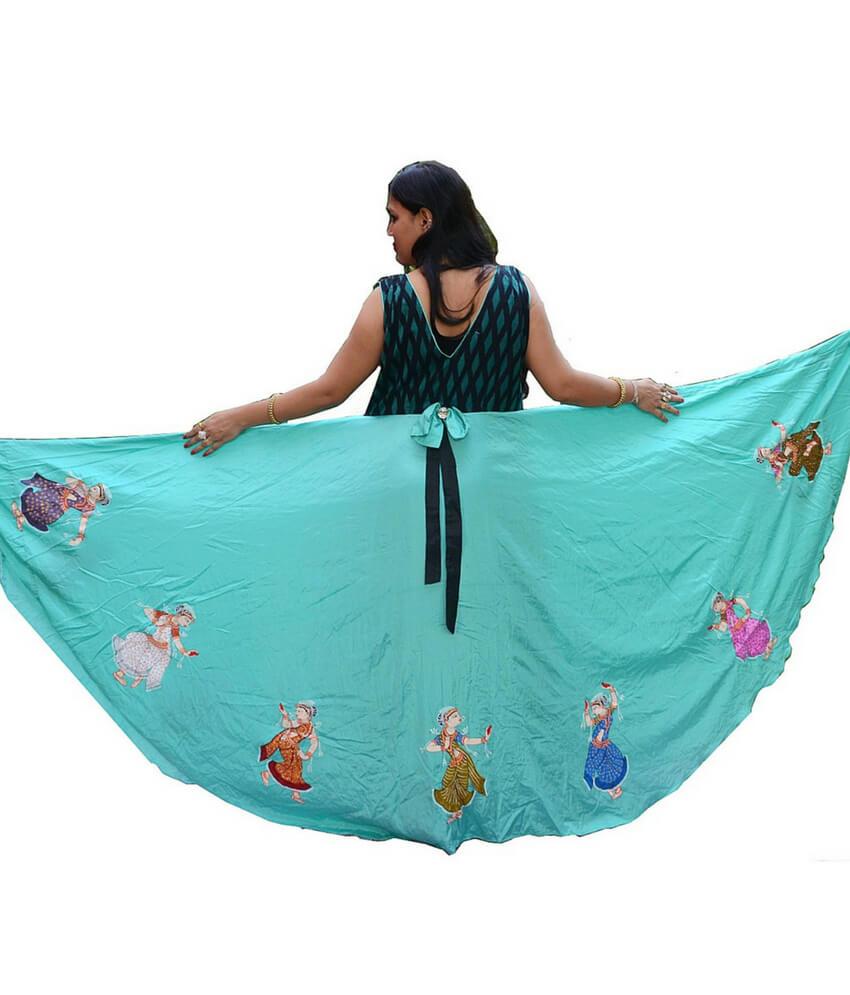 Pattachitra Nartaki Hand Painted Gown