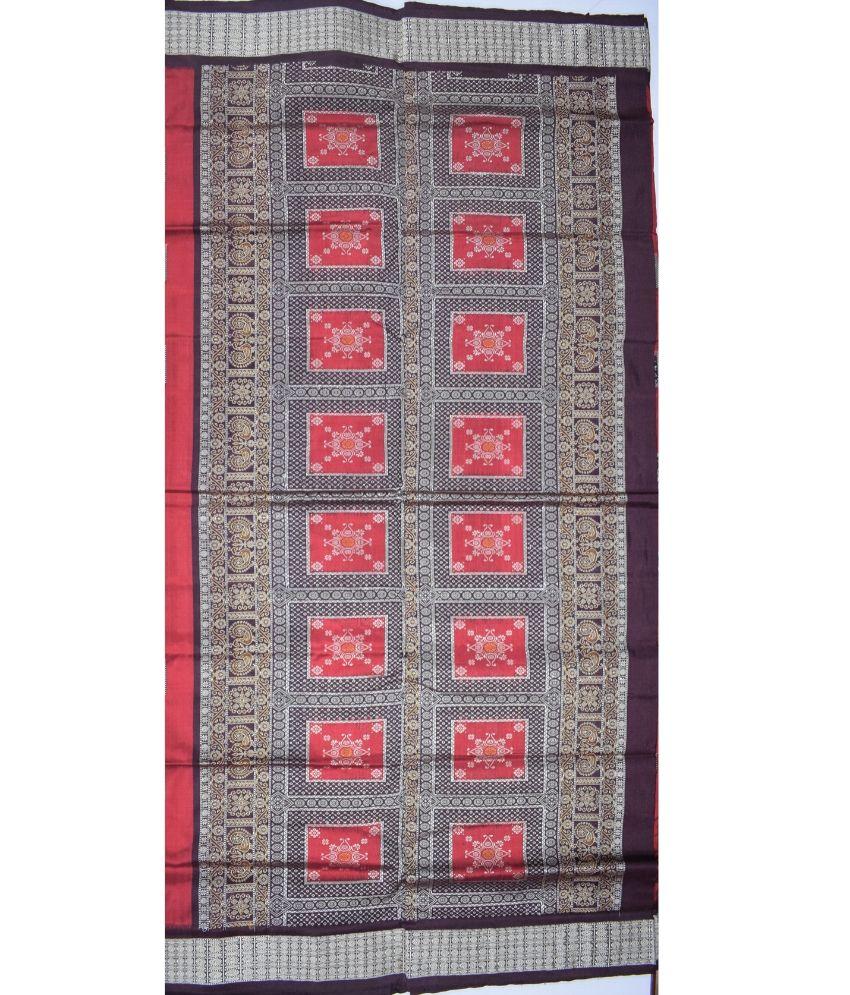 Tribal Design Bomkai Silk Saree