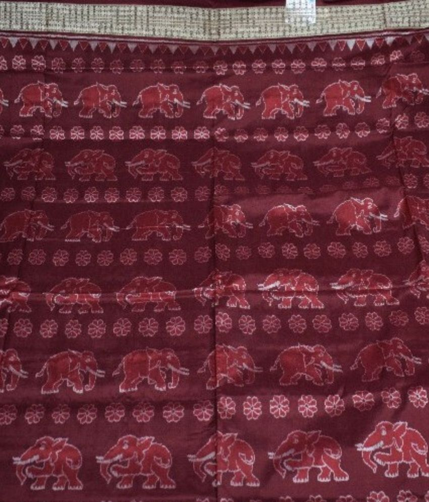 Elephant Pattern Sambalpuri Silk Saree