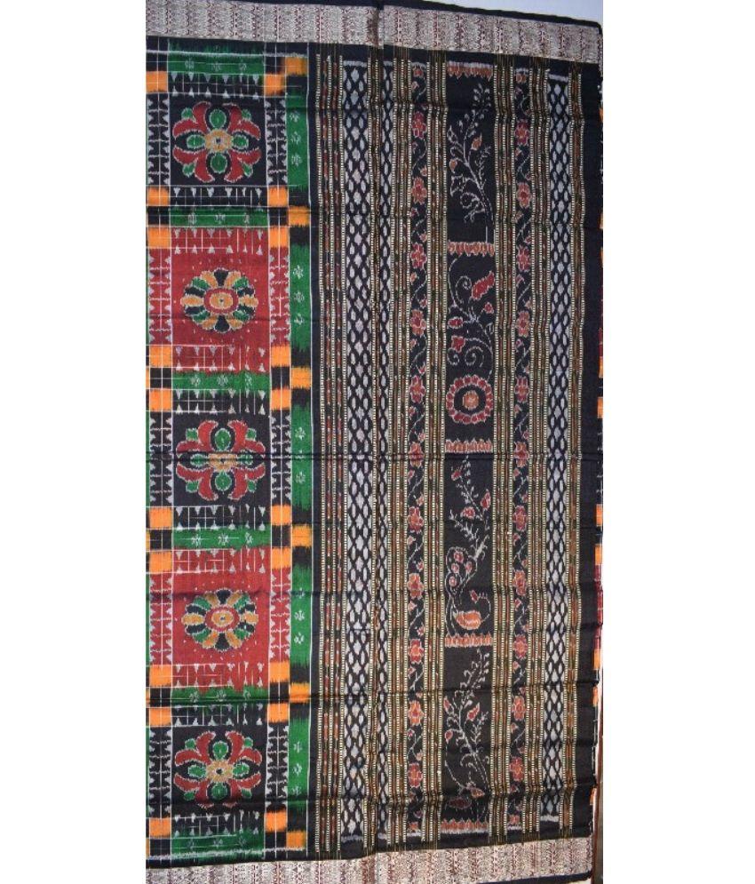 Black Sambalpuri Silk Saree