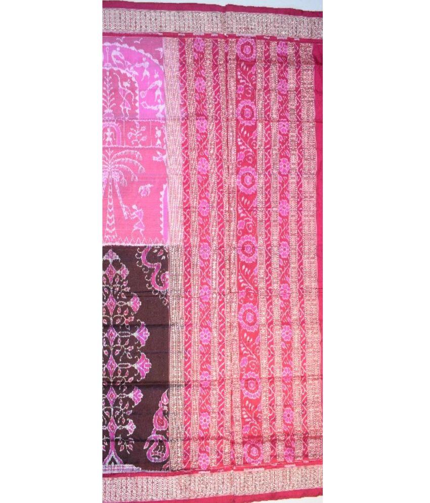Half-Half Sambalpuri Silk Saree