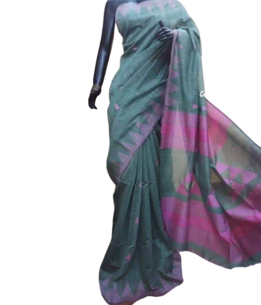 Cotton Silk Handwork Saree