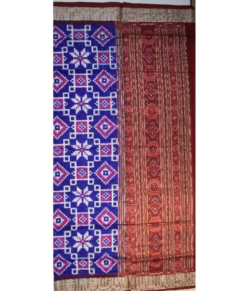 Blue Bandha Silk Saree