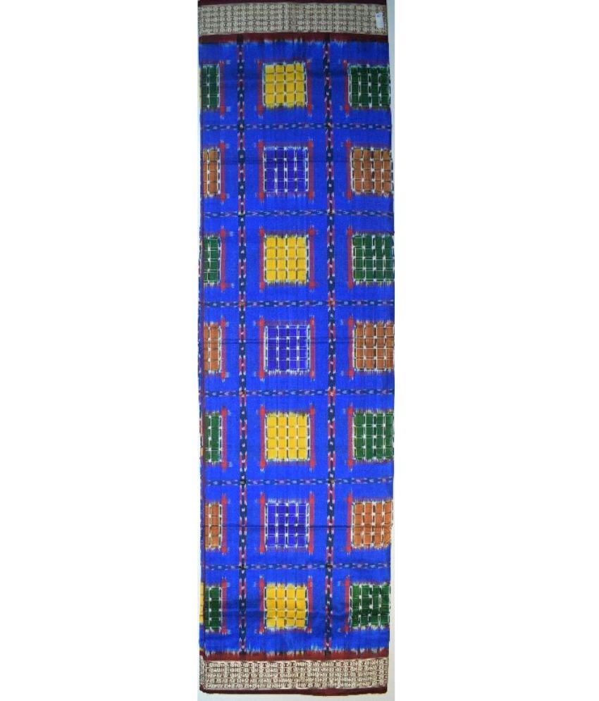 Blue Sambalpuri Silk Saree