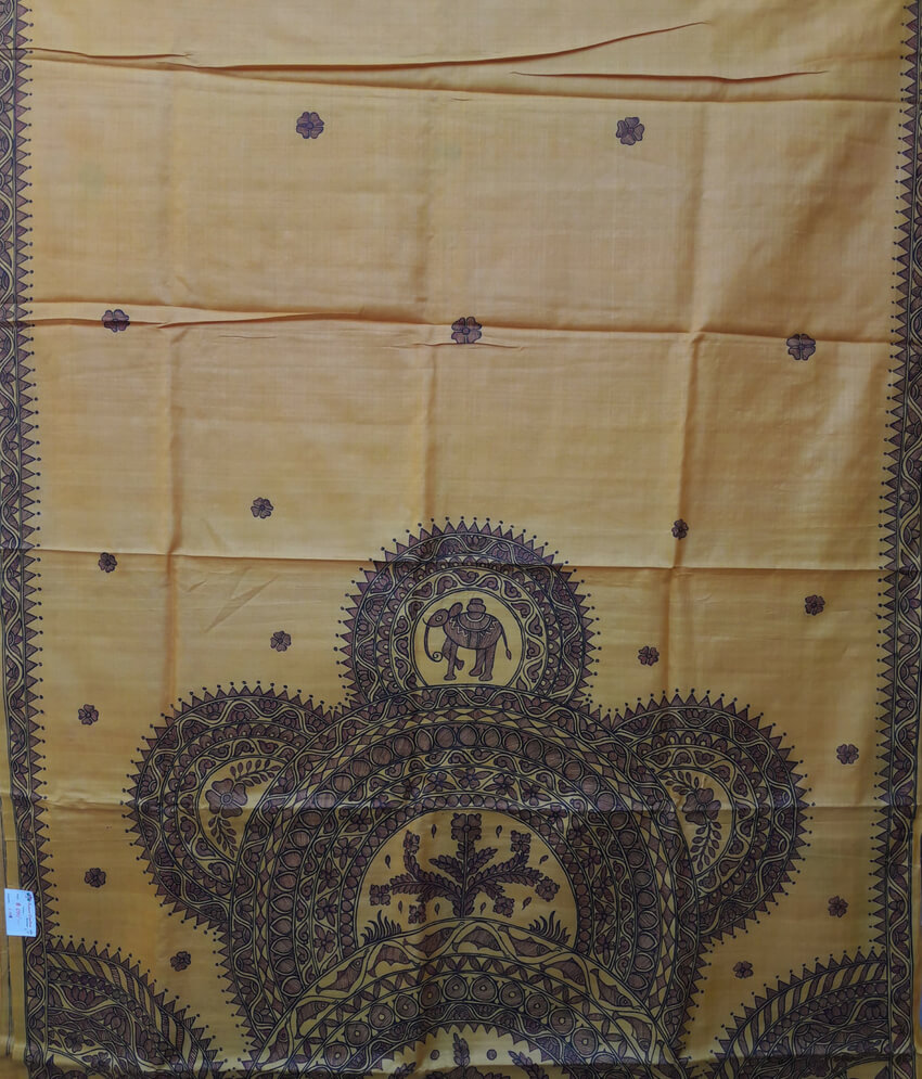 Traditional Pattachitra Painting On a Silk Saree