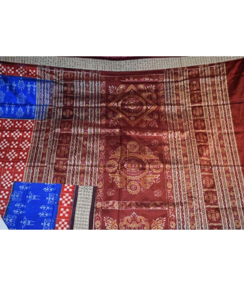 Sambalpuri Pasapali & ikat designed Silk Saree