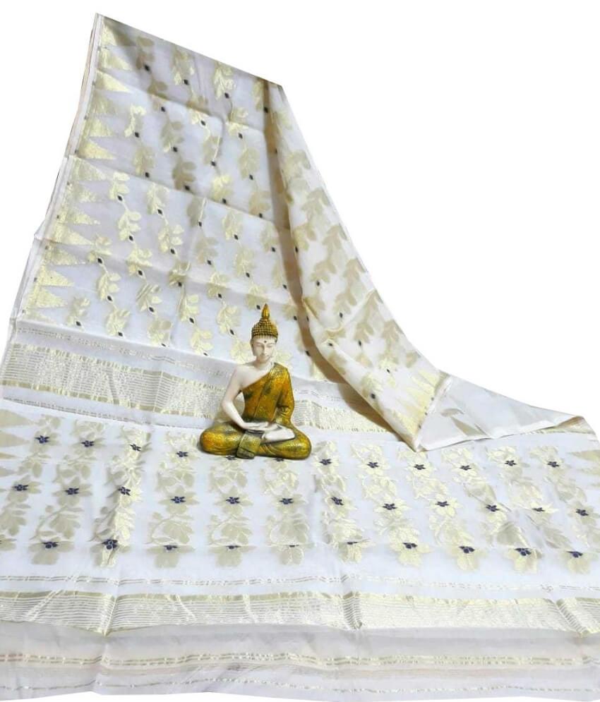 White Jamdani Saree