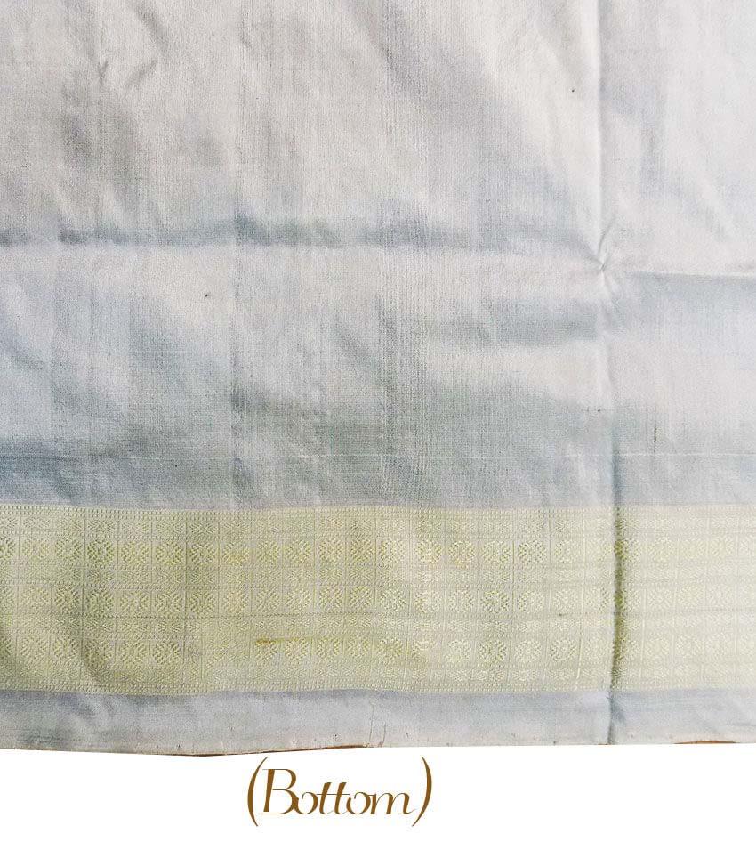White With Black Sambalpuri Suit Piece