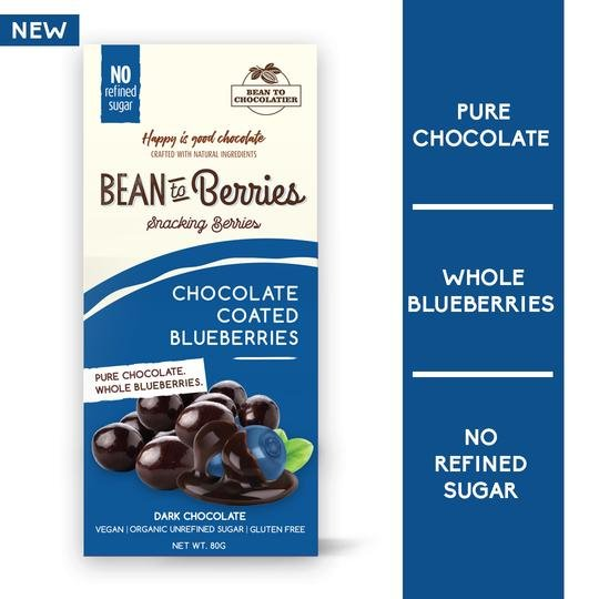 Bean to Beeries Ch. Coated Blueberries 80g