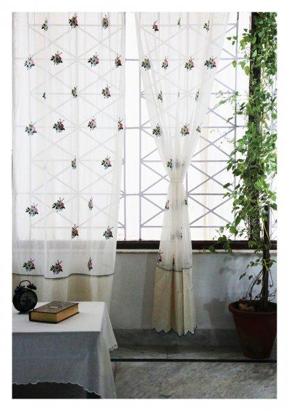Mrigasha Off White Sheer Curtain