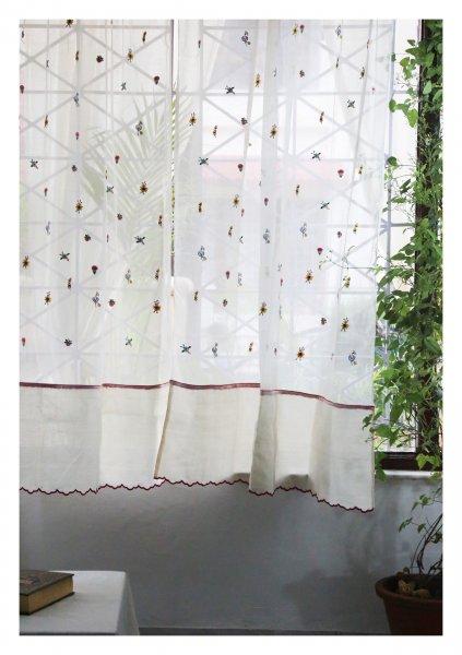 Ashlesha White Sheer Curtain