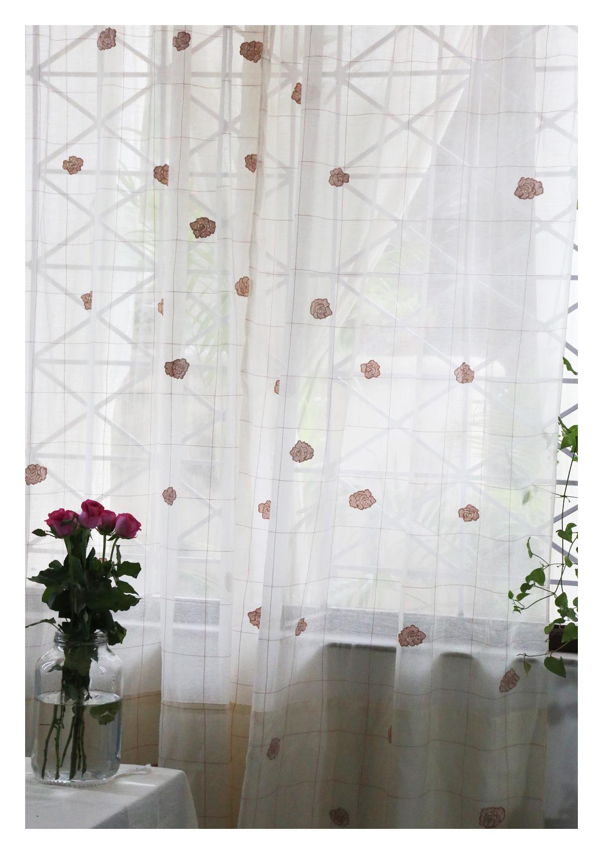 Ashvini Off-White Sheer Curtain