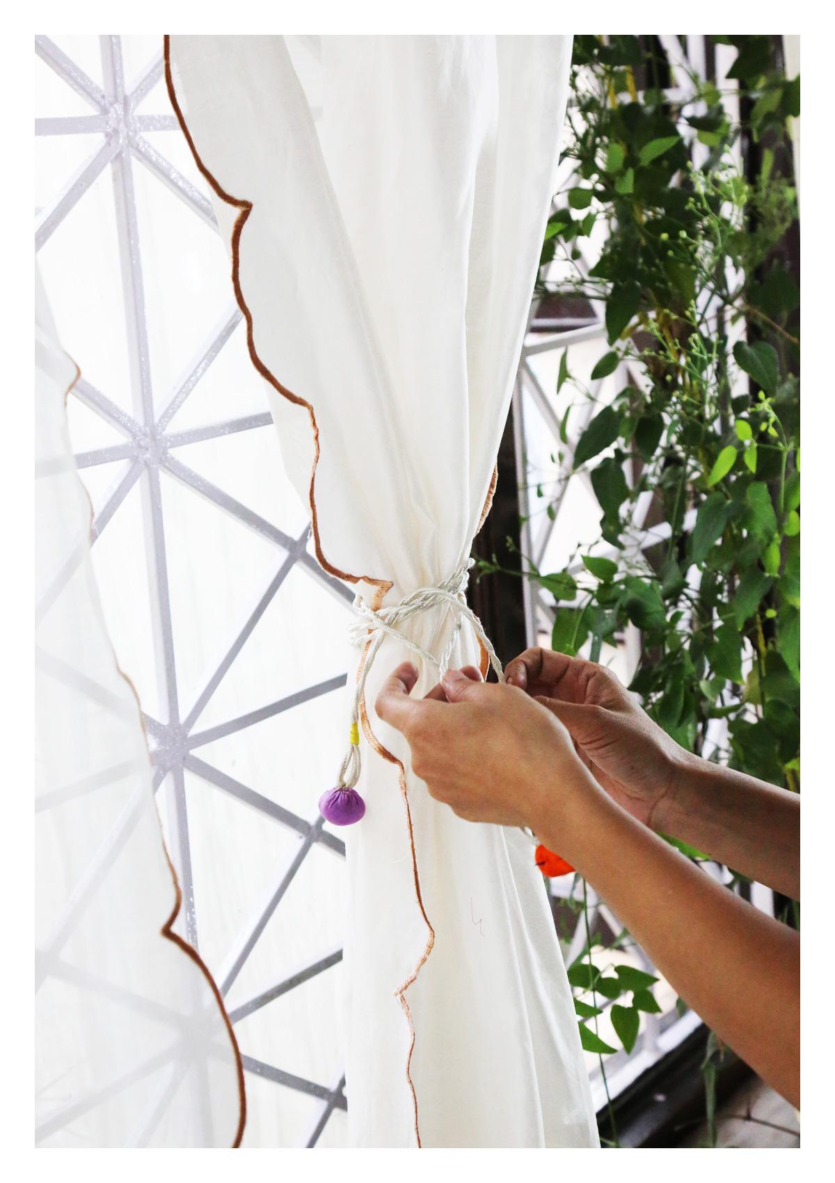 Anuradha Off-White Sheer Curtain