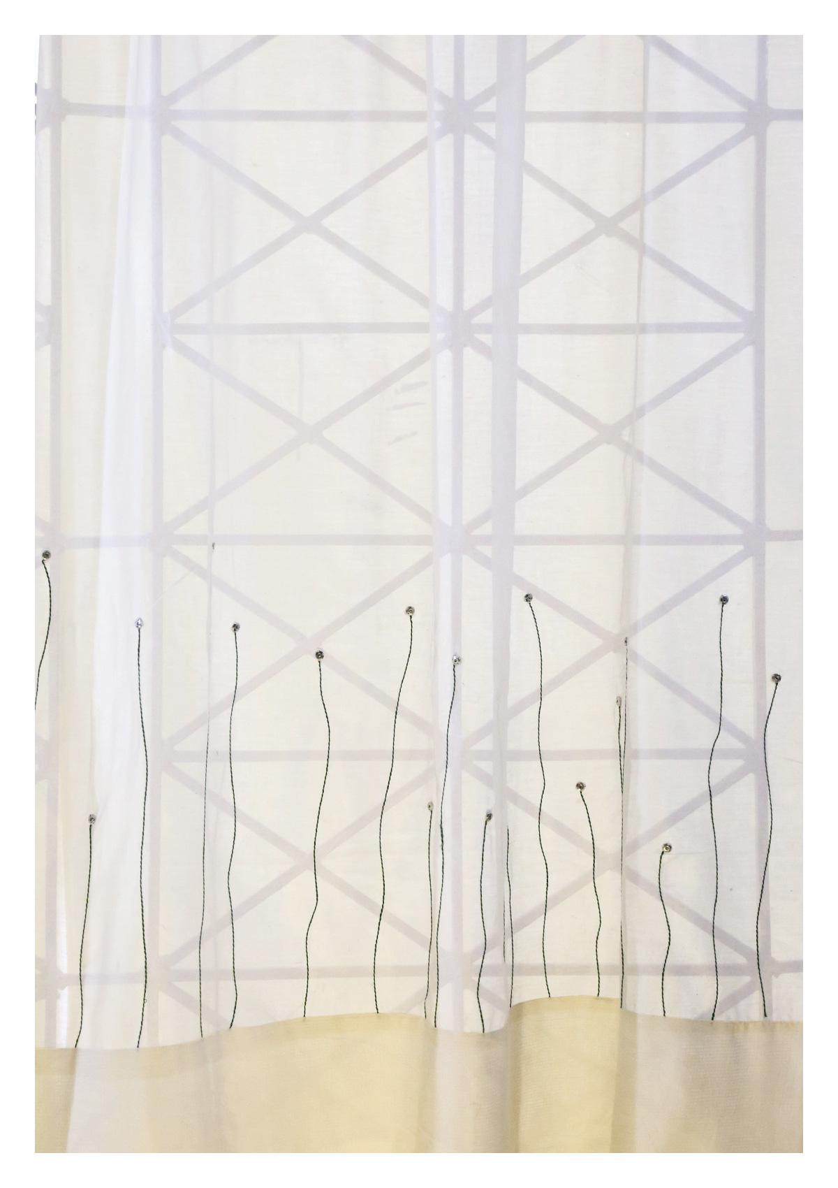 Bharani Off-White Sheer Curtain