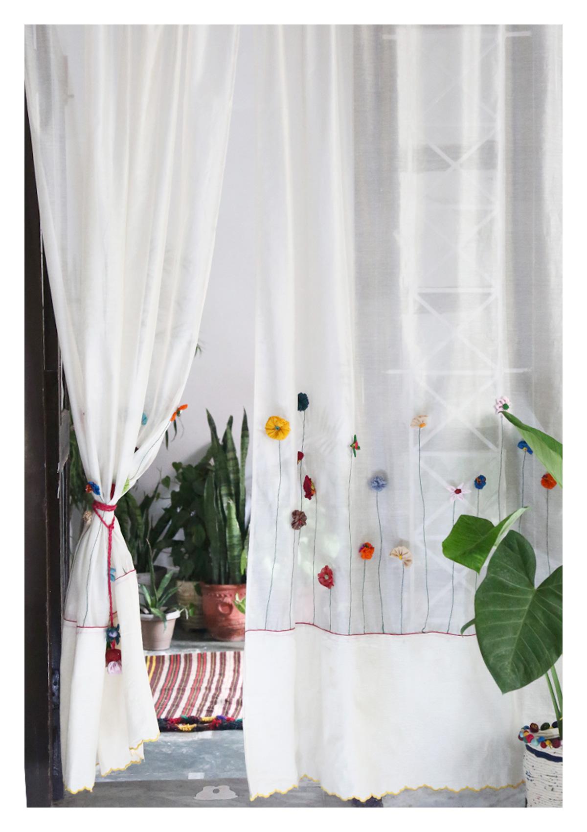 Mula Off-White Sheer Curtain
