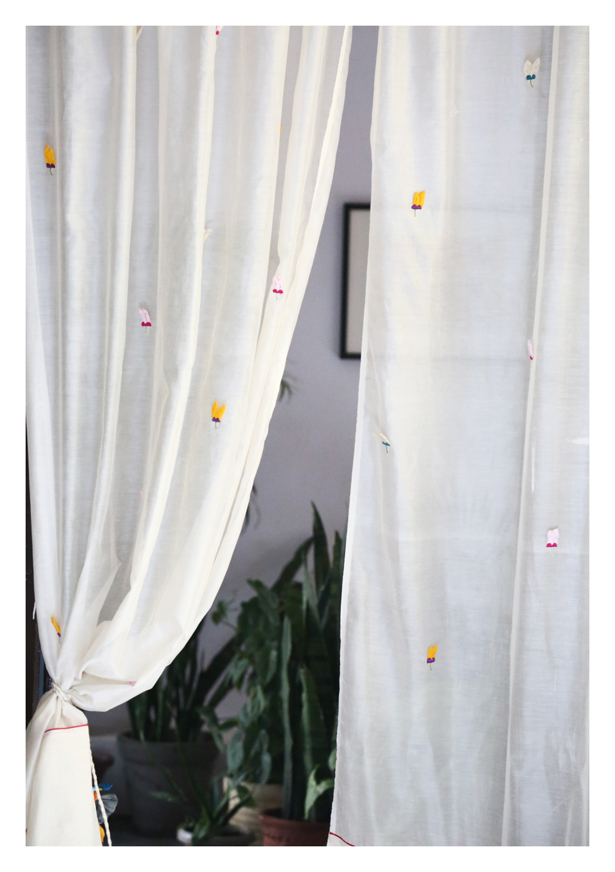 Hasta Off-White Sheer Curtain