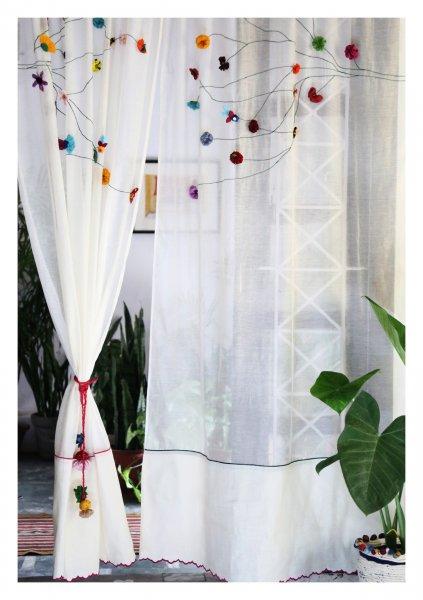 Sravana Off-White Sheer Curtain