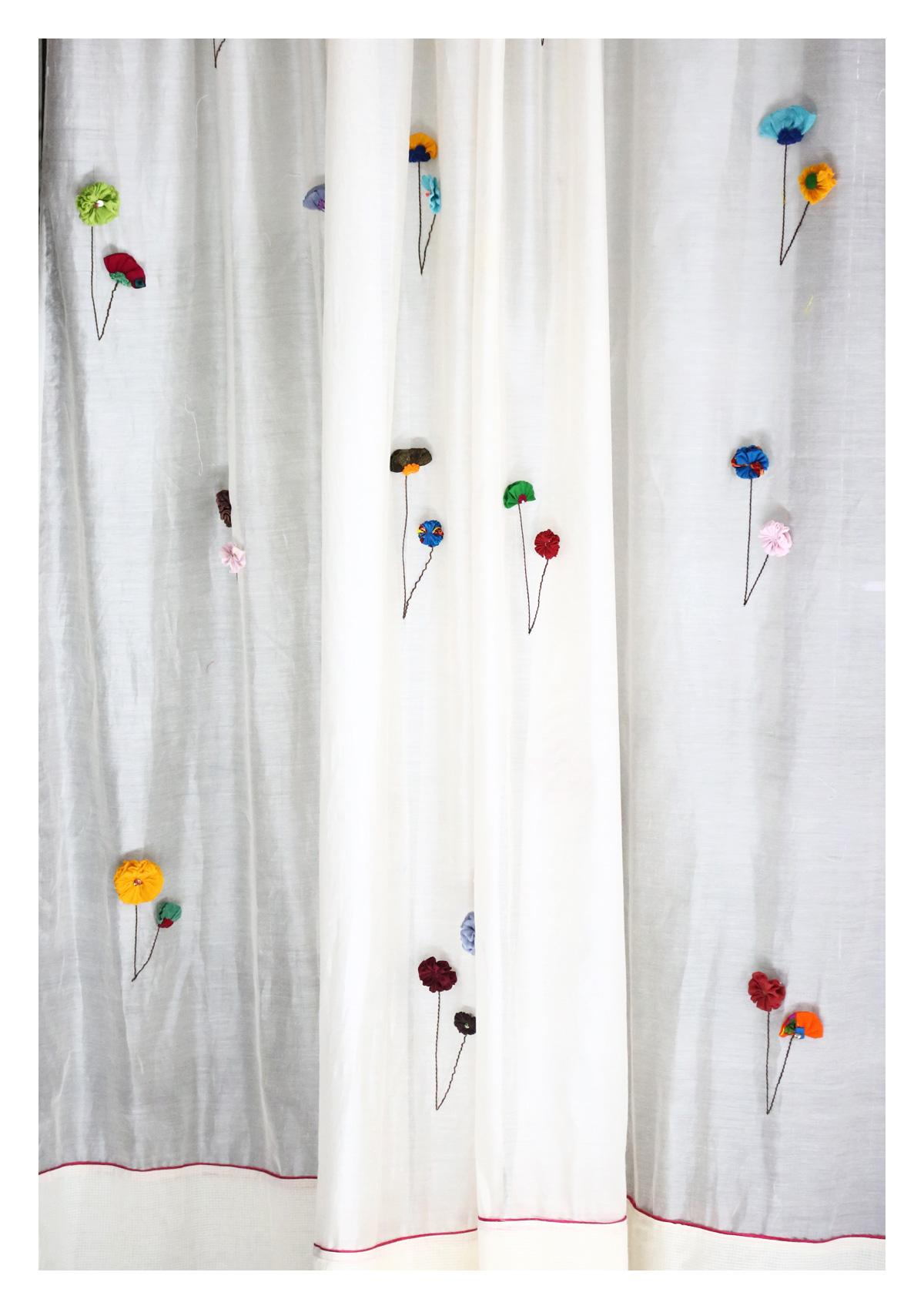 Uttara Off-White Sheer Curtain