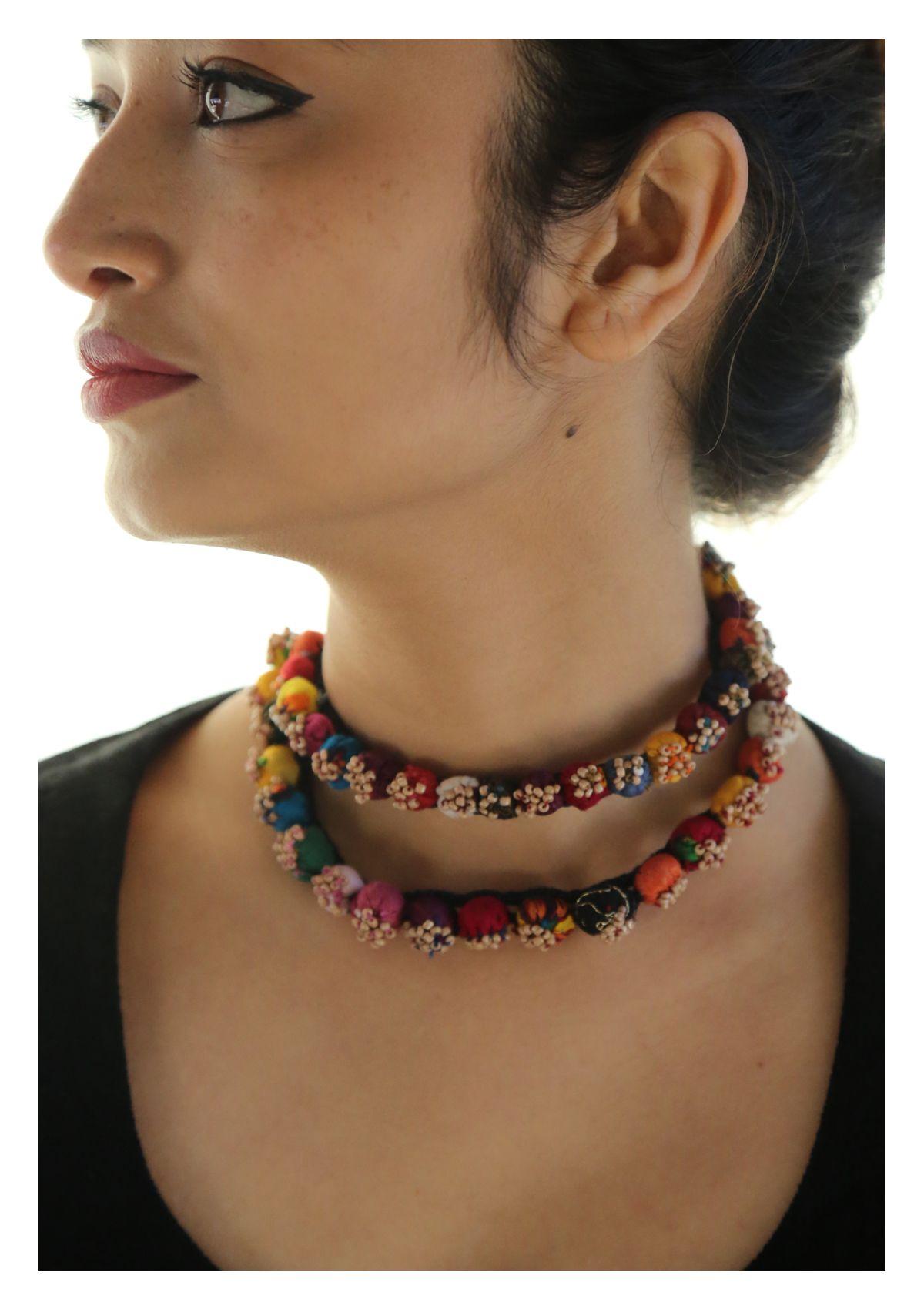 Nazare Handmade Textile Necklace