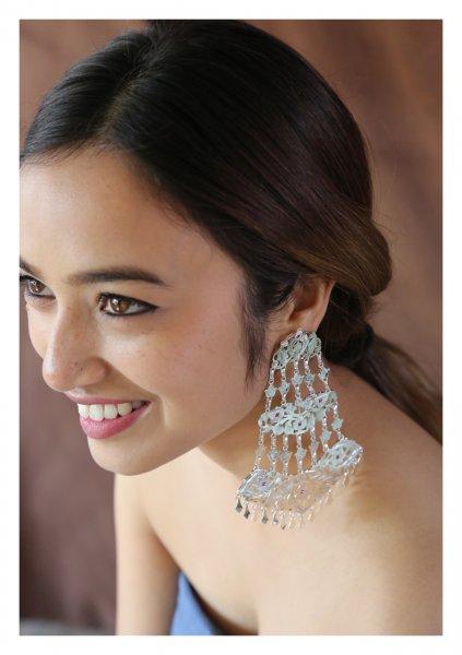 Jhoomar Handmade Silver Earrings