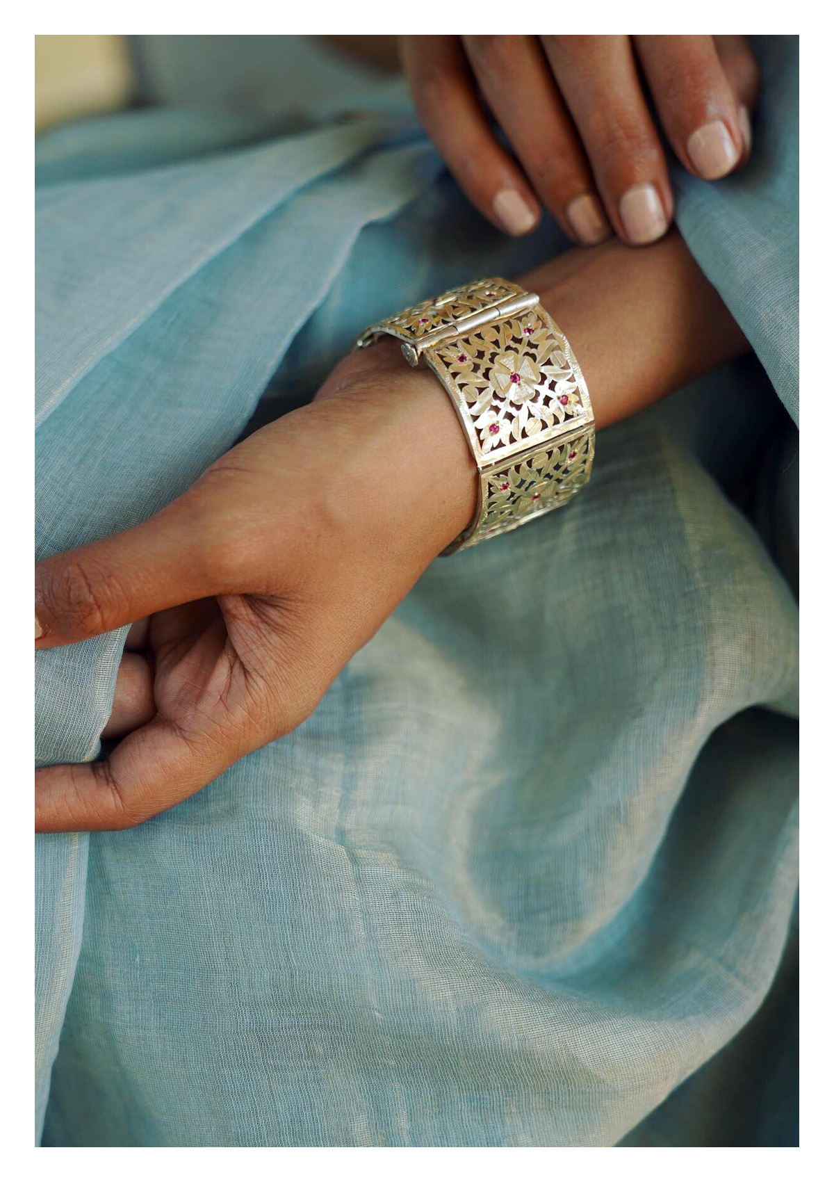 Gayatri Handmade Silver Bracelet