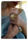 Kaeri Handmade Gold Tone Silver Ring