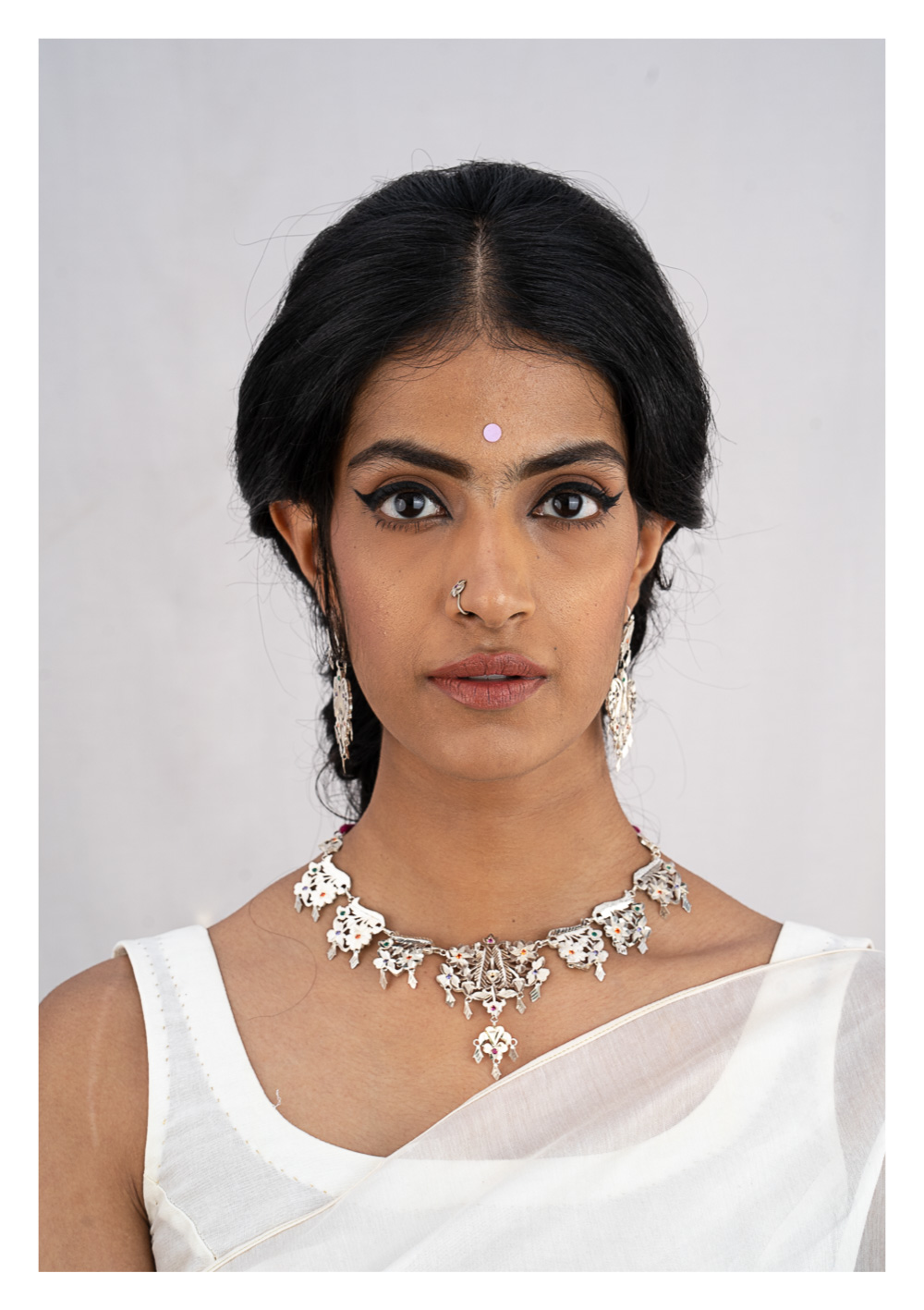 Sangi Silver Necklace & Earrings Set