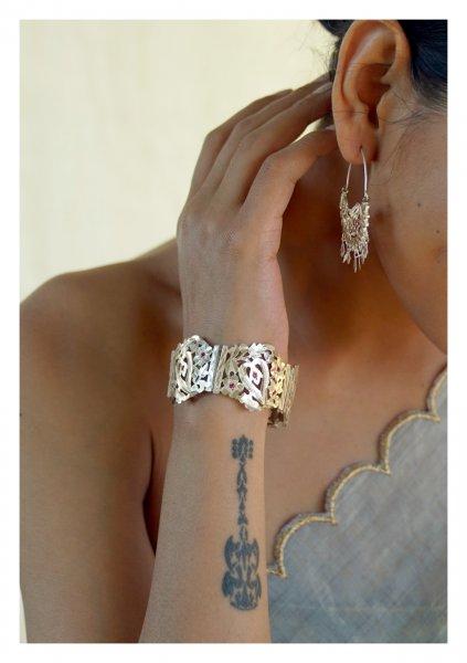 Sunanda Handmade Silver Bracelet