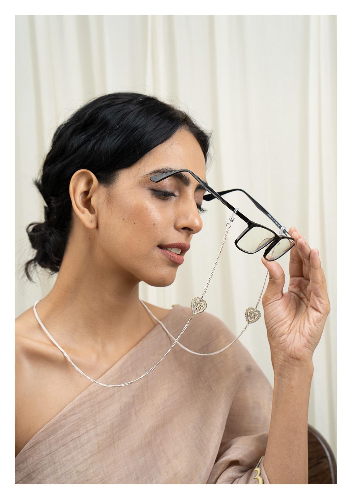 Barkha Handmade Silver Eyewear Chain