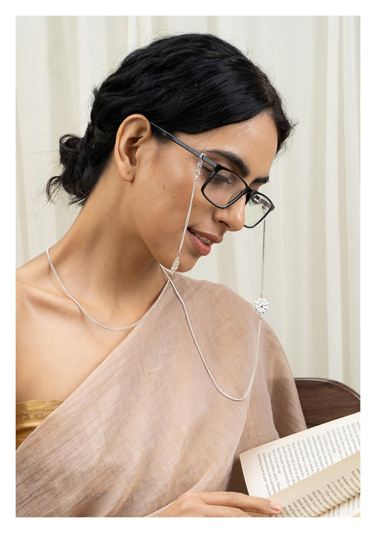 Sarmi Handmade Silver Eyewear Chain