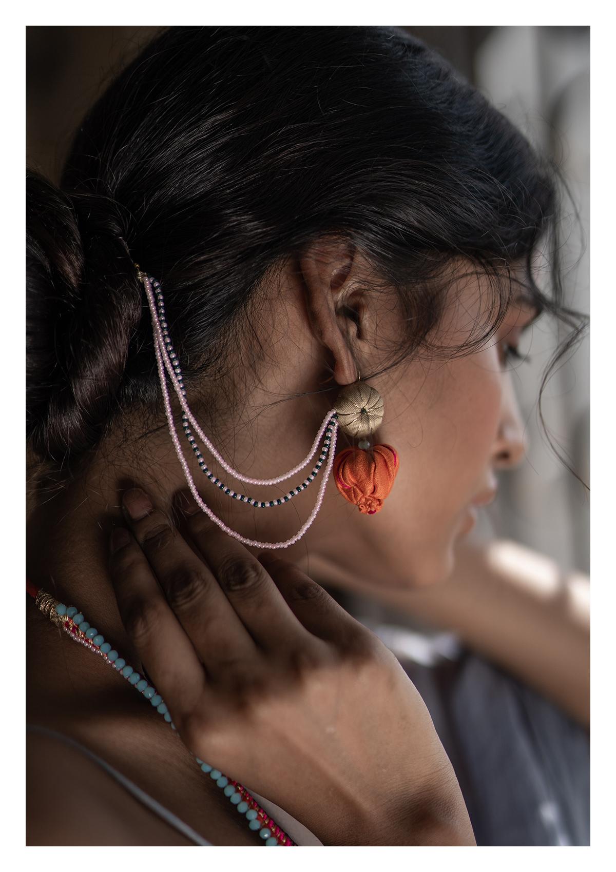 Aiko Bead Textile Earrings