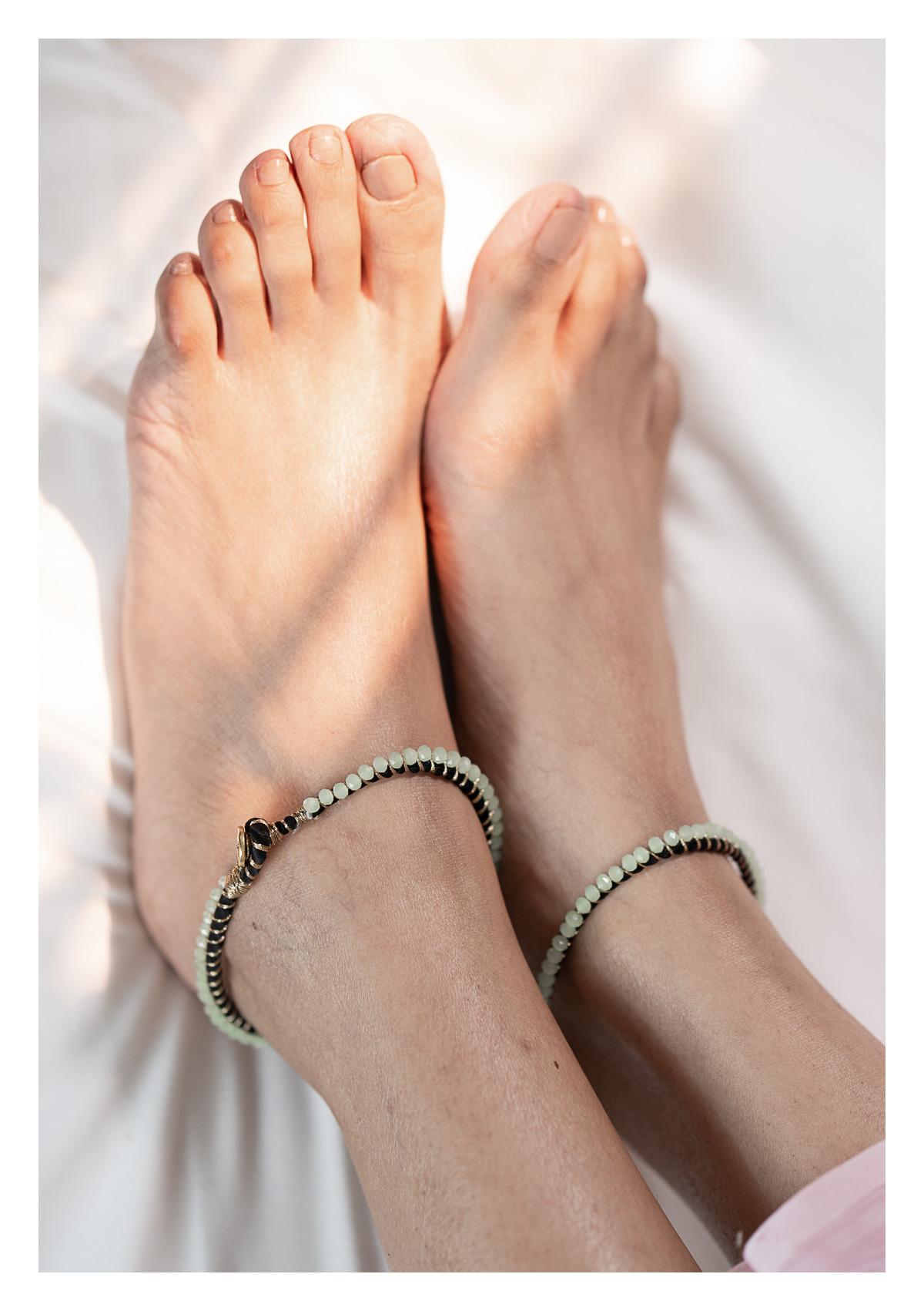 Amala Bead Textile Anklets