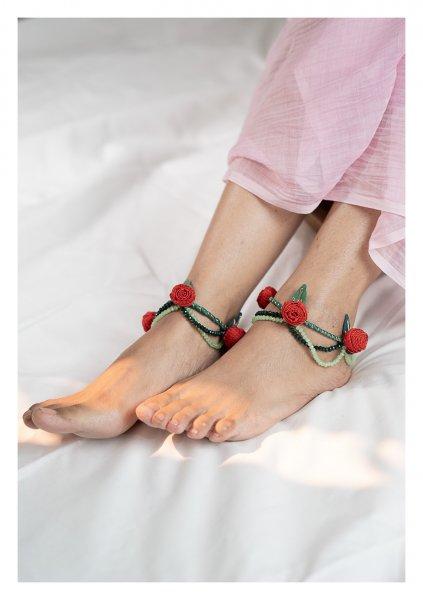 Beru Bead Textile Anklets