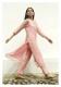 Yati Pink Tissue Chanderi Kurta Pants Set