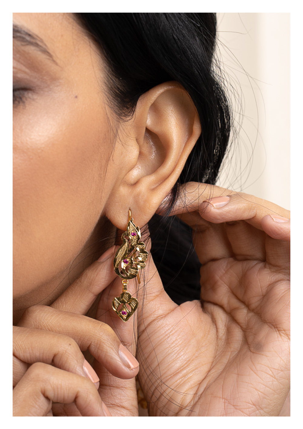 Batakhi Gold Tone Silver Earrings
