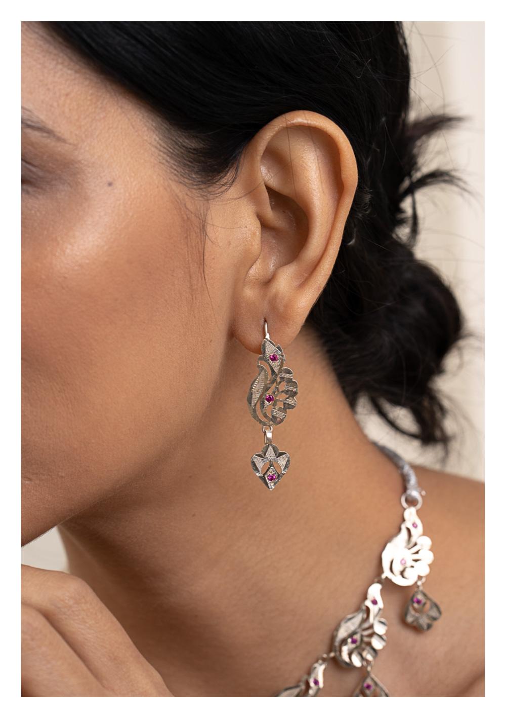 Batakhi Silver Earrings