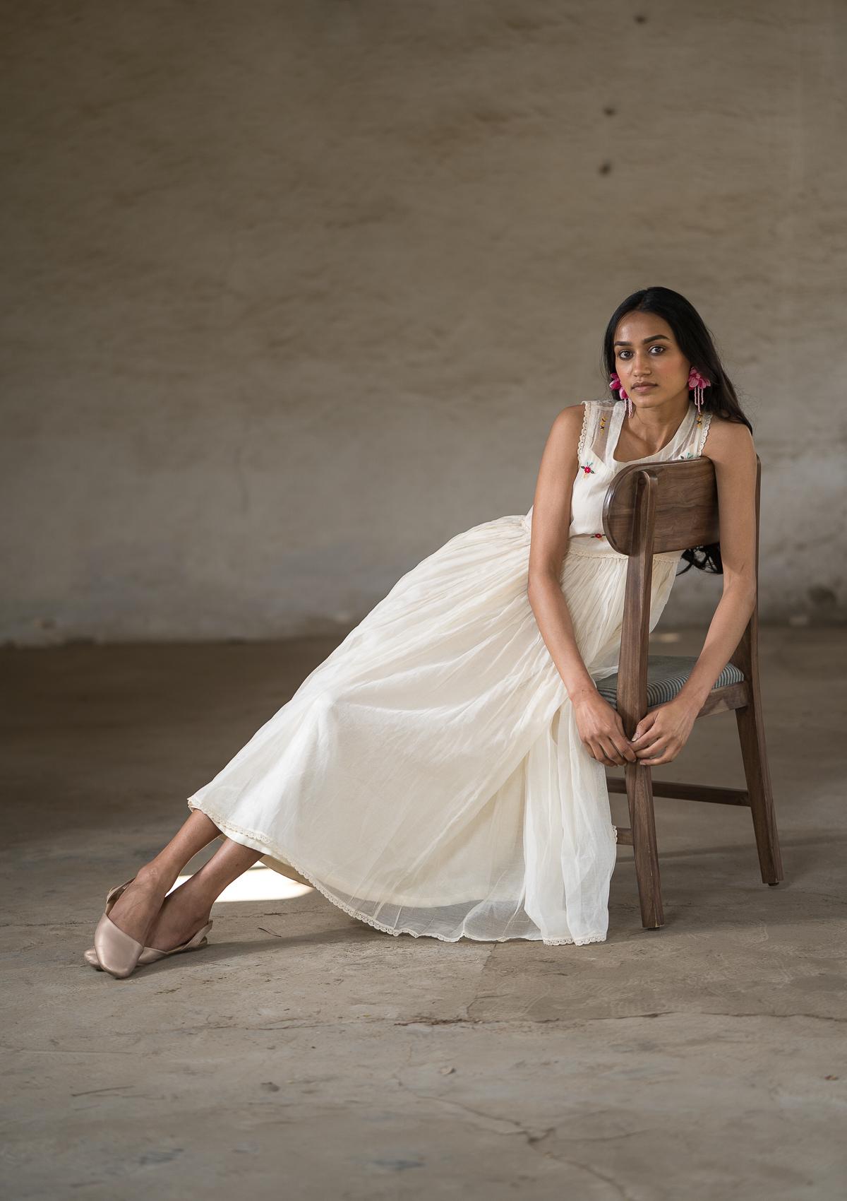 Bhulbhulati Chanderi Dress