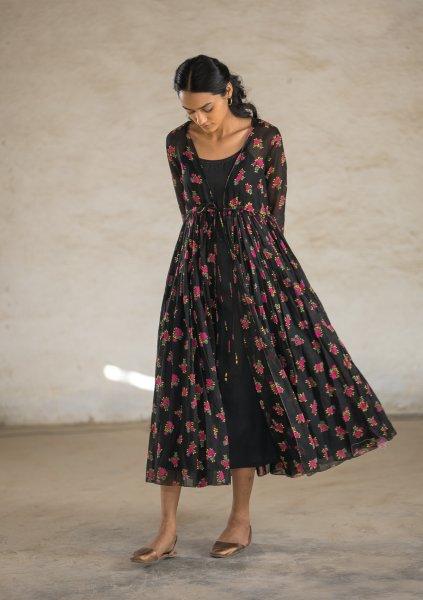 Ubuntu Black Cotton Dress
