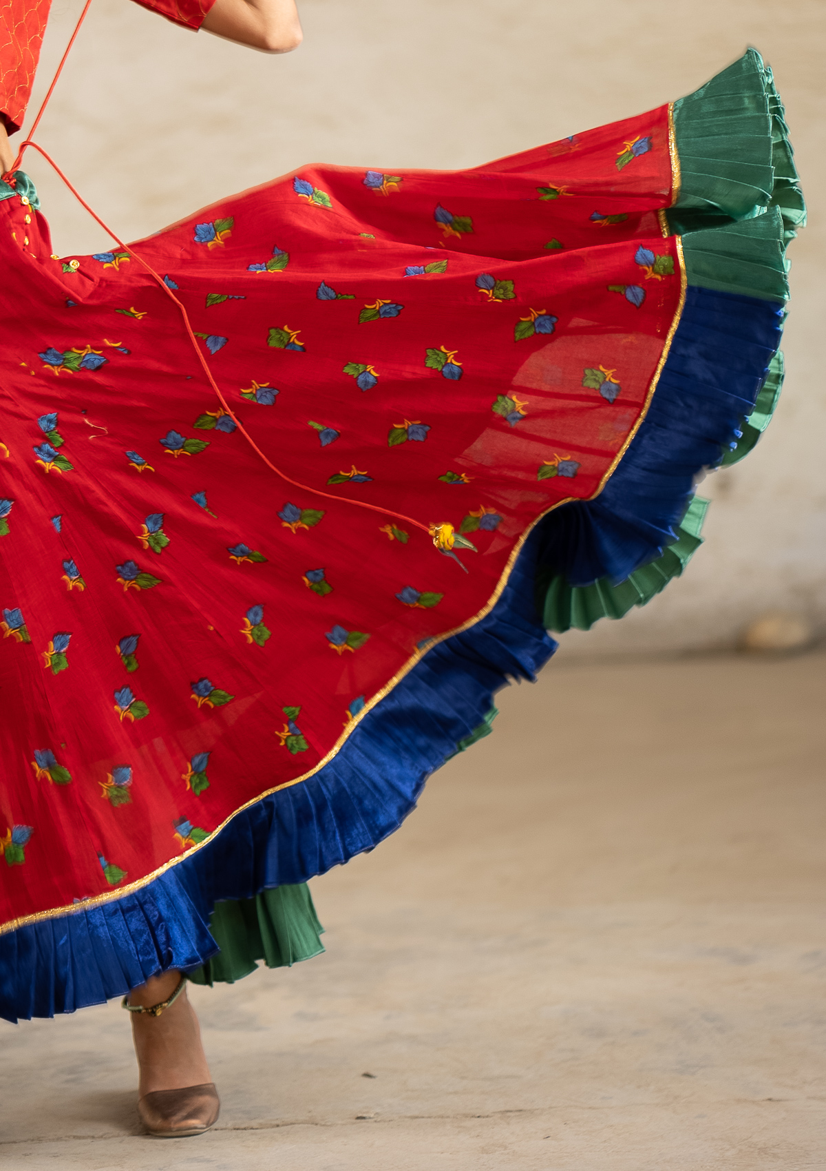 Morii Red Limited Edition Ghagra Skirt